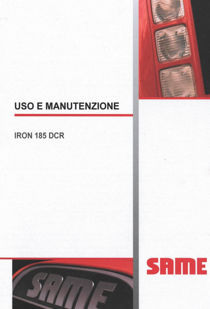 IRON 185 DCR - Uso e manutenzione