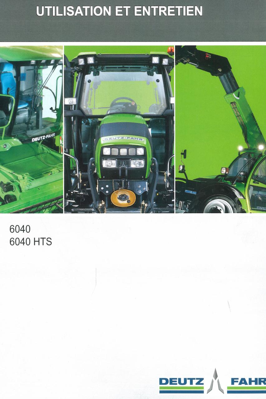 6040 - 6040 HTS - Utilisation et entretien
