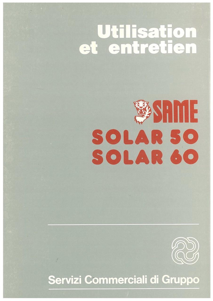 SOLAR 50 - 60 - Utilisation et entretien
