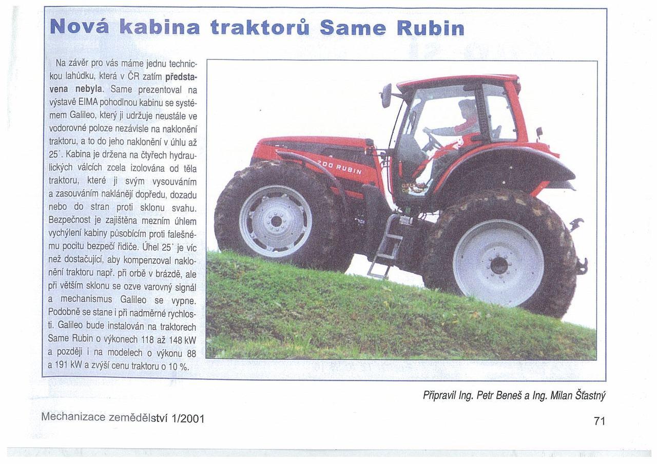Nova Kabina traktoru SAME Rubin