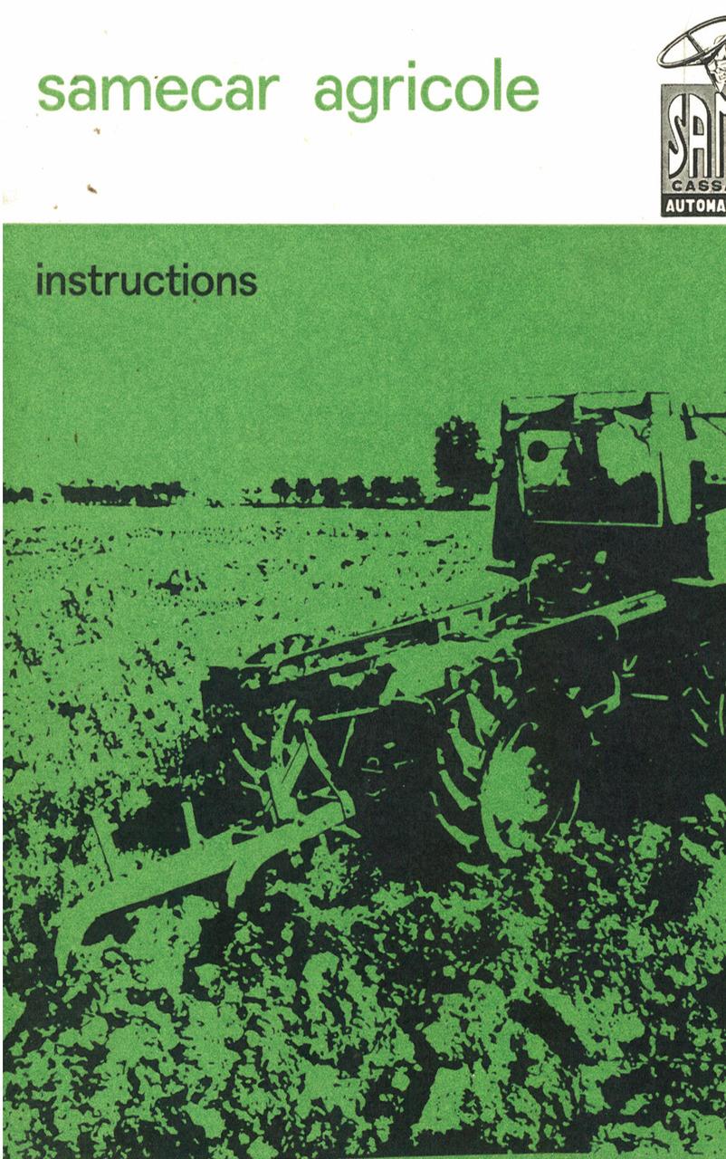SAMECAR AGRICOLE - Instructions