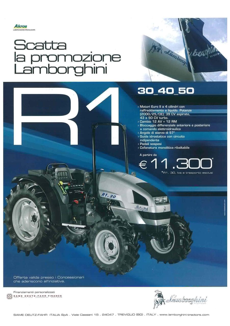 Scatta la promozione Lamborghini - R 1 - 30 - 40 - 50