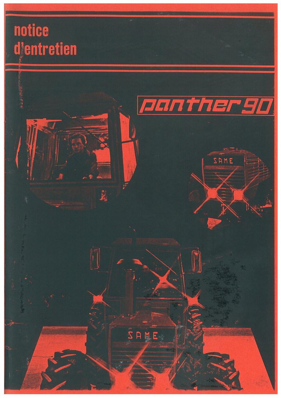 PANTHER 90 - Utilisation et entretien
