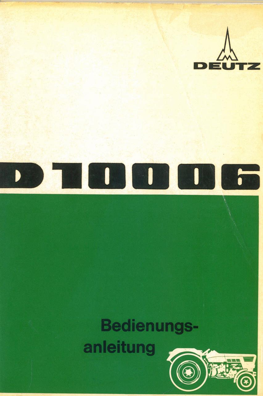 D 100 06 - Bedienungsanleitung