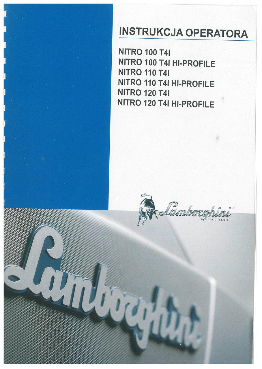 NITRO 100 T4I - NITRO 100 T4I HI-PROFILE - NITRO 110 T4I - NITRO 110 T4I HI-PROFILE - NITRO 120 T4I - NITRO 120 T4I HI-PROFILE - Instrukcja operatora