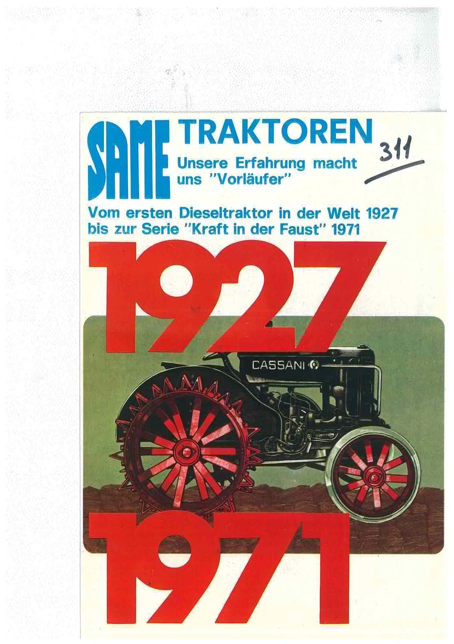 Same Traktoren 1927 - 1971