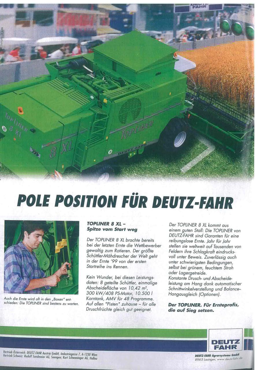Pole Position fuer Deutz - Fahr