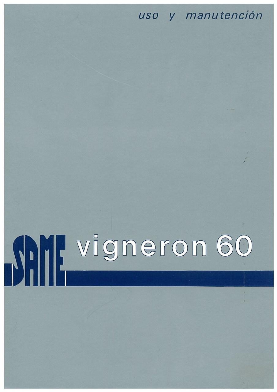 VIGNERON 60 - Uso y manutencion