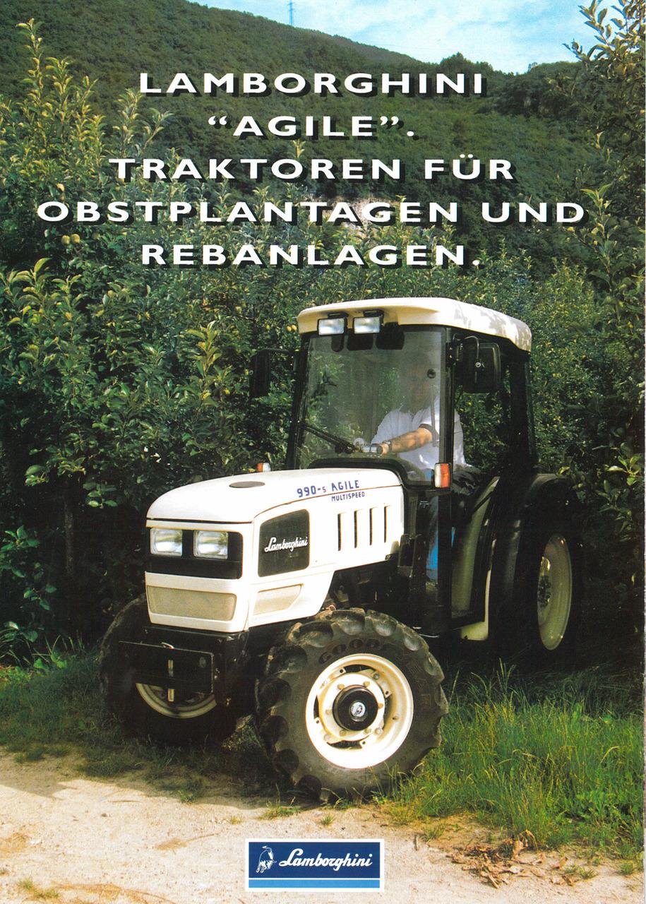 """LAMBORGHINI """"AGILE"""" - Traktoren für Obstplantagen und Rebanlagen"""