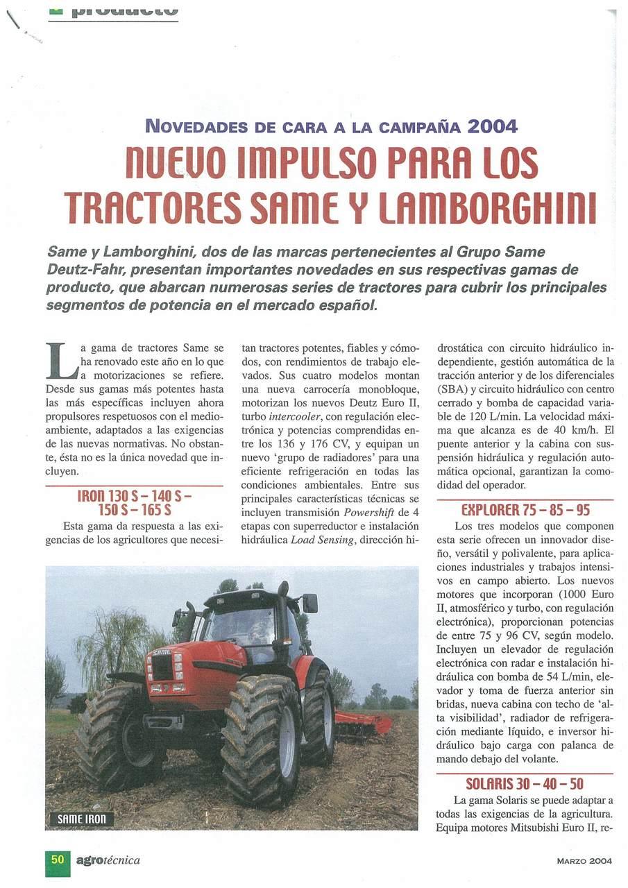 Nuevo impulso para los tractores SAME y Lamborghini