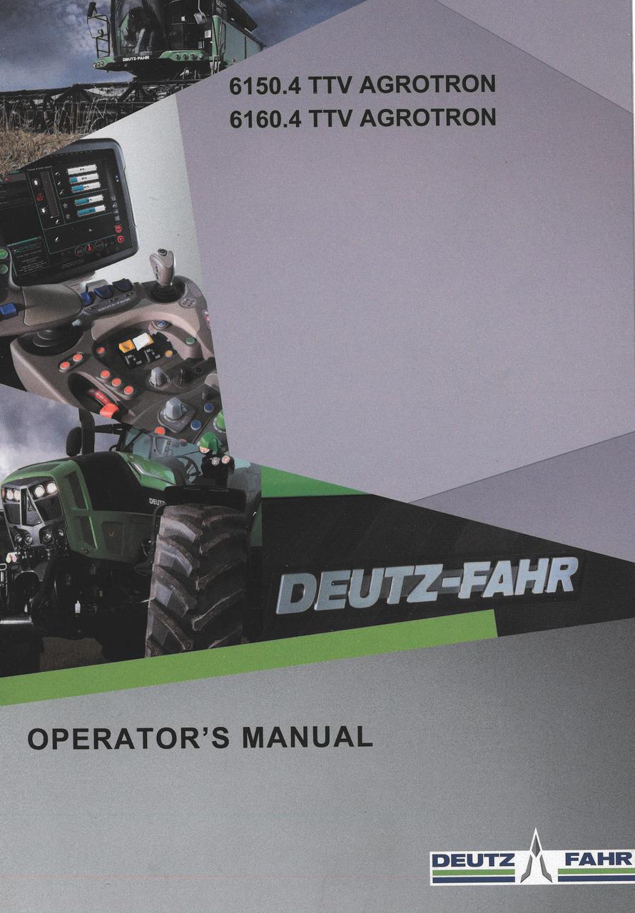 6150.4 TTV AGROTRON - 6160.4 TTV AGROTRON - Operator's manual
