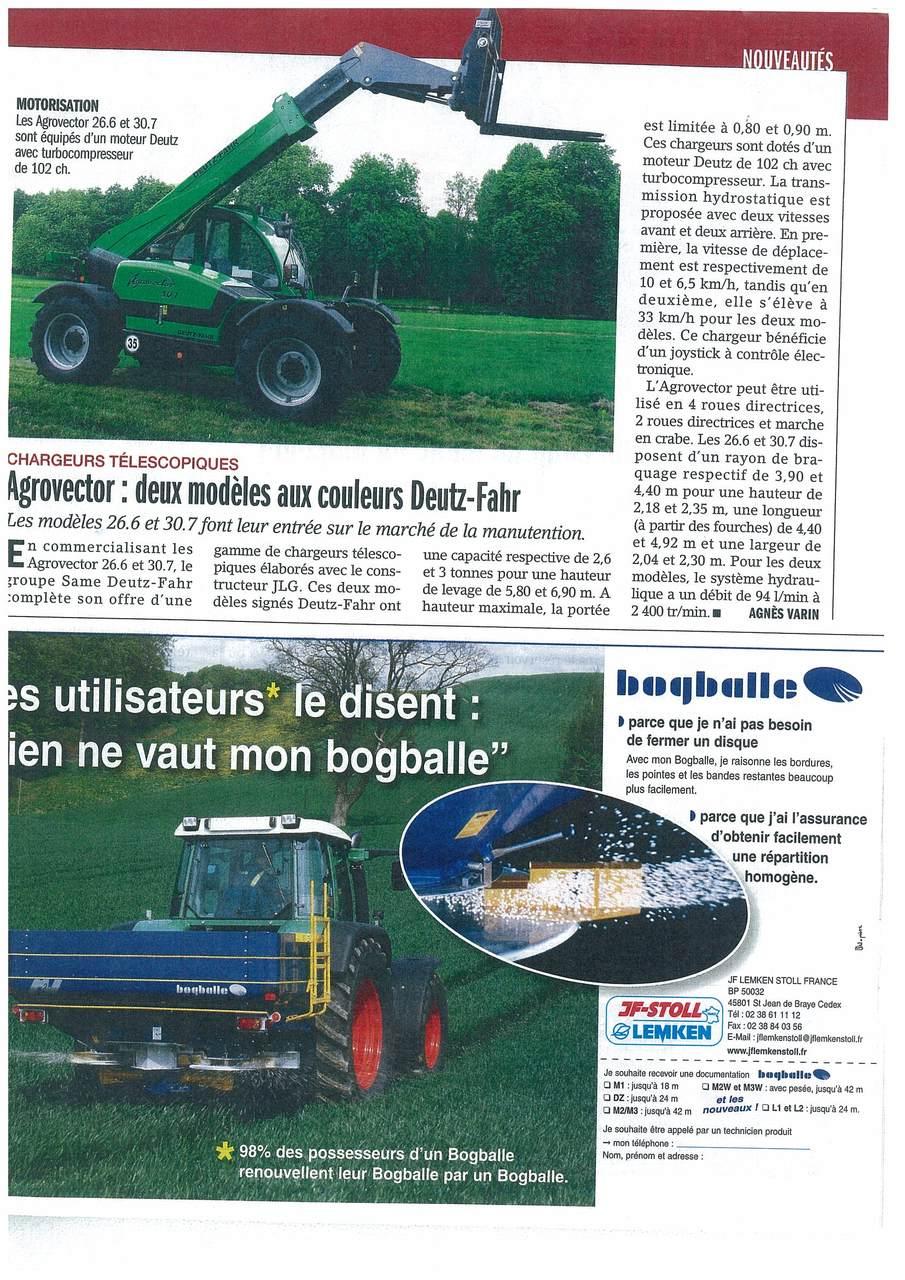Agrovector: deux modèles aux couleurs Deutz-Fahr