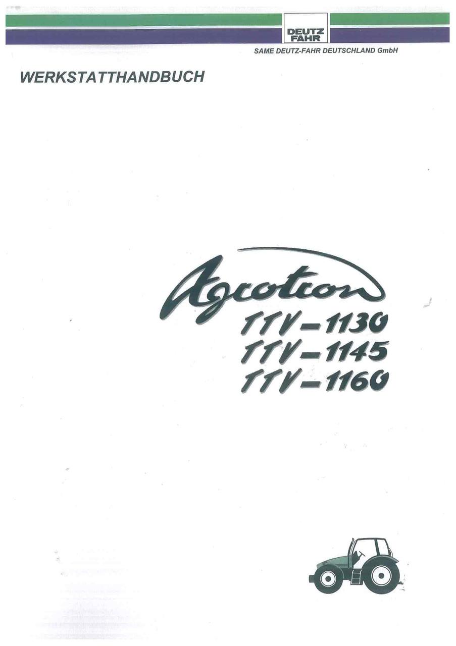 AGROTRON TTV-1130-1145-1160 - Werkstatthandbuch