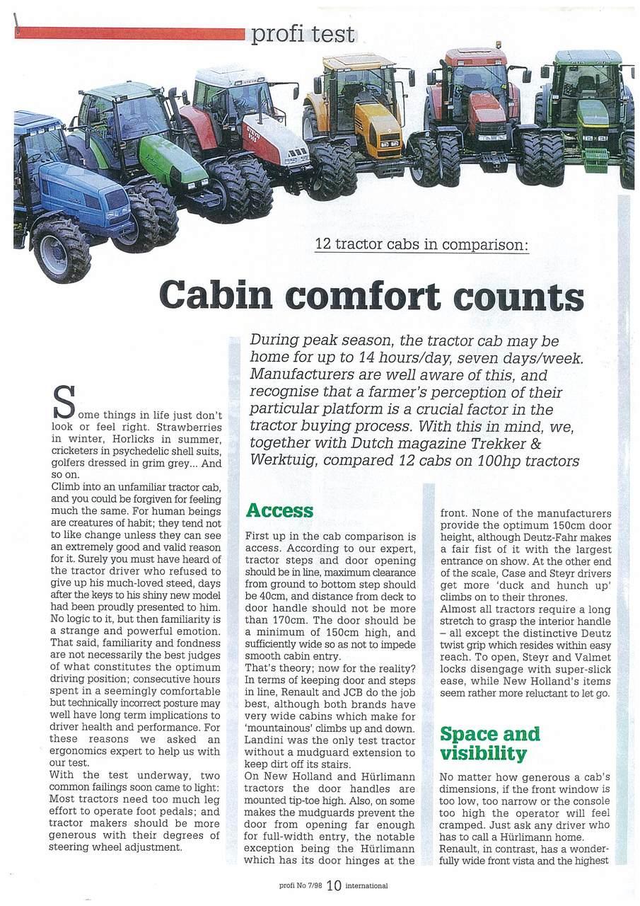 Cabin comfort counts