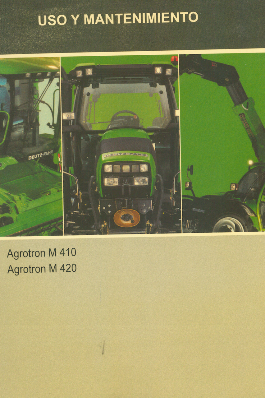 AGROTRON M 410 - 420 - Uso y mantenimiento