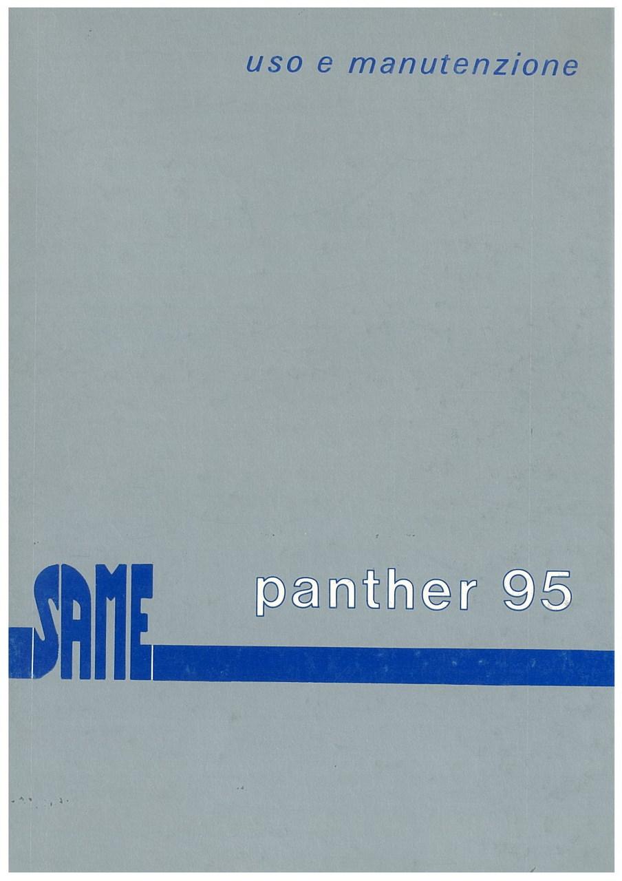 PANTHER 95 - Libretto uso & manutenzione
