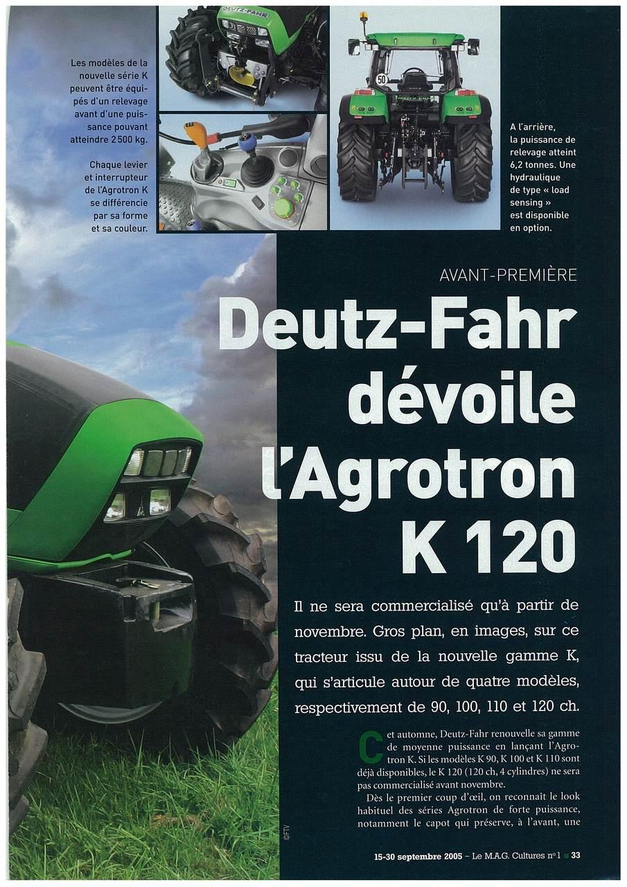Deutz-Fahr dévoile l'Agrotron K 120