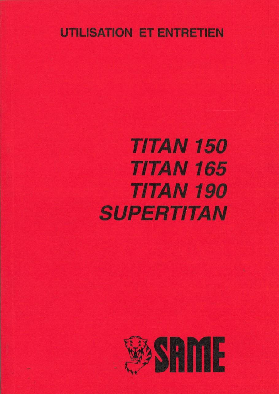 TITAN 150-165-190-SUPERTITAN - Utilisation et entretien