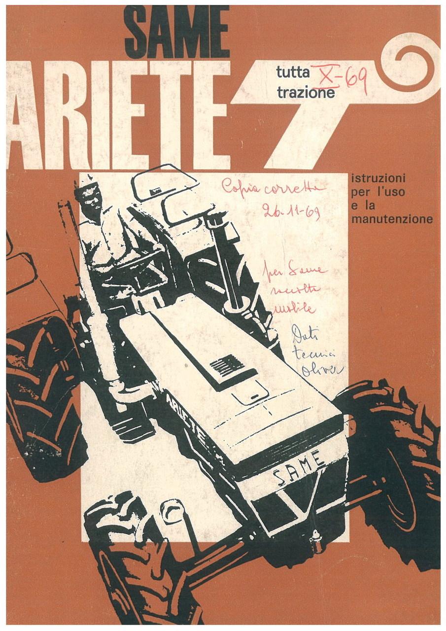 SAME ARIETE T - Libretto uso & manutenzione
