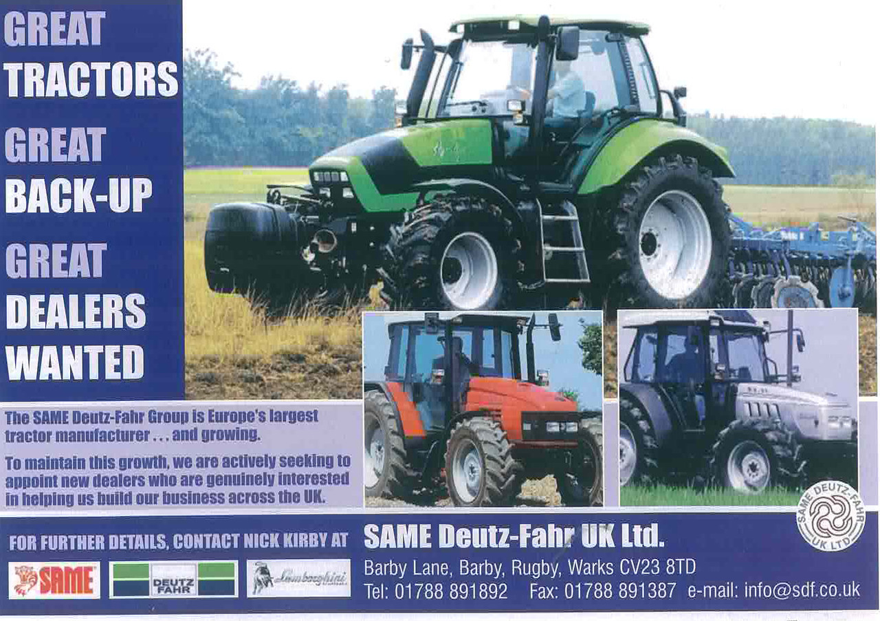 Great tractors, great back -up, great dealers wanted