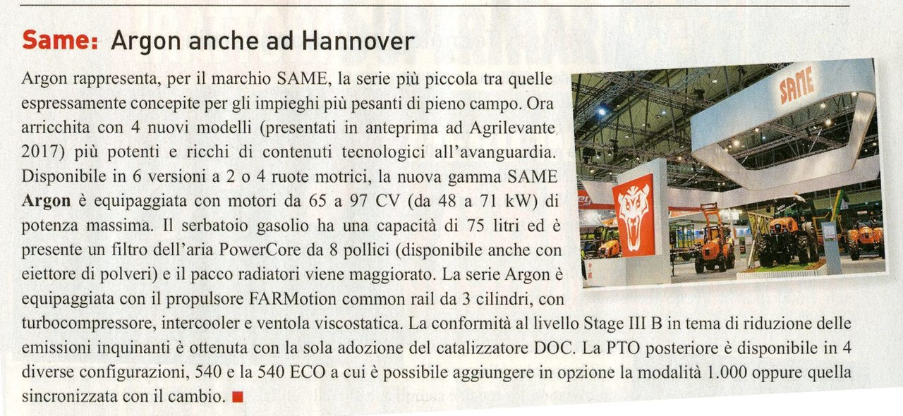 Same: Argon anche ad Hannover