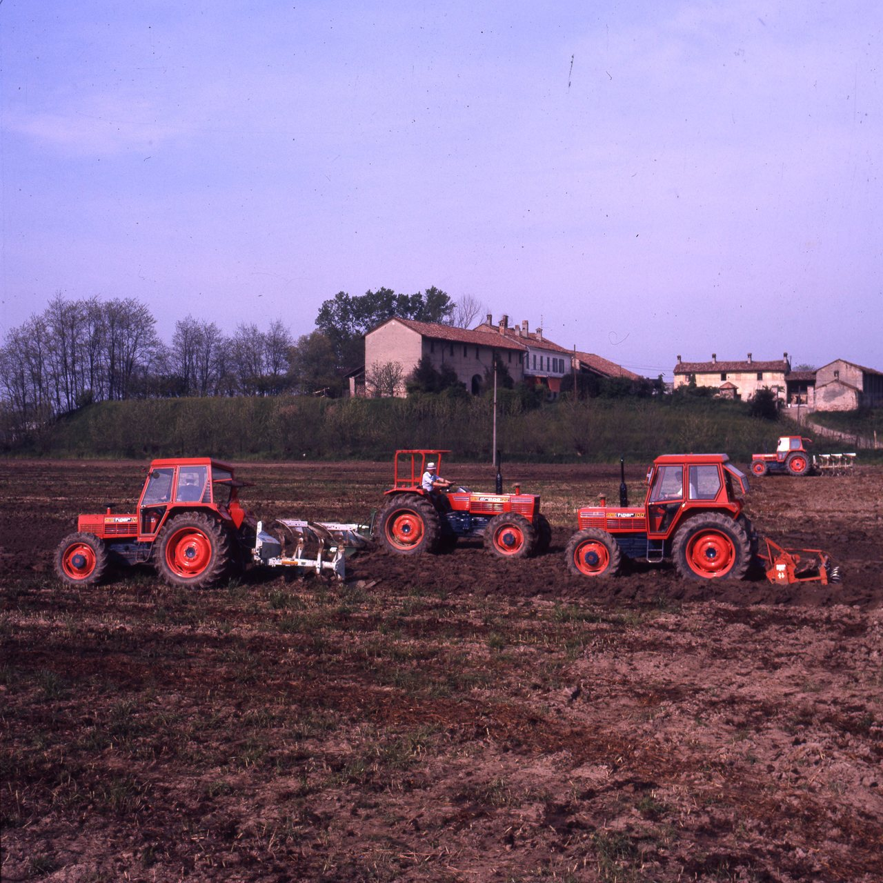 [SAME] trattori Tiger 100 e Drago 120 al lavoro in campo