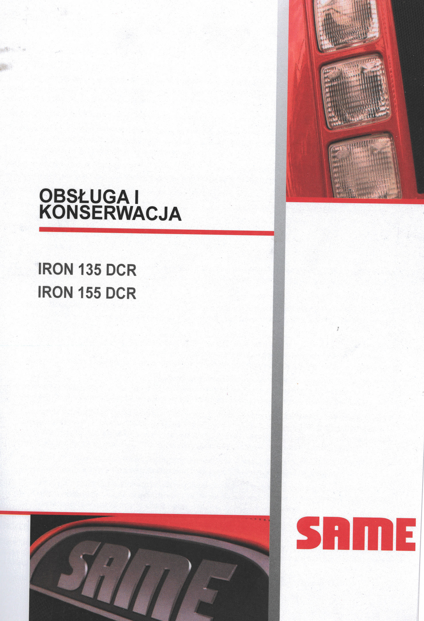 IRON 135 DCR - IRON 155 DCR - Obsluga i konserwacja