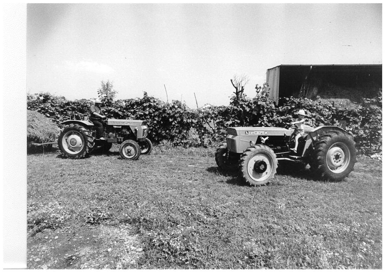 Azienda agricola del campione di ciclismo Gianni Motta con i trattori SAME Atlanta e Centauro