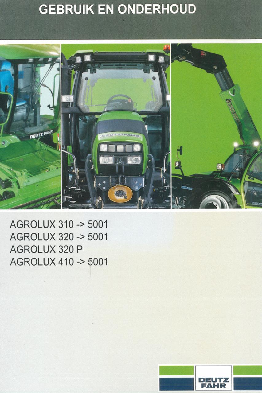 AGROLUX 310 ->5001 - AGROLUX 320 ->5001 - AGROLUX 320 P - AGROLUX 410 ->5001 - Gebruik en onderhoud