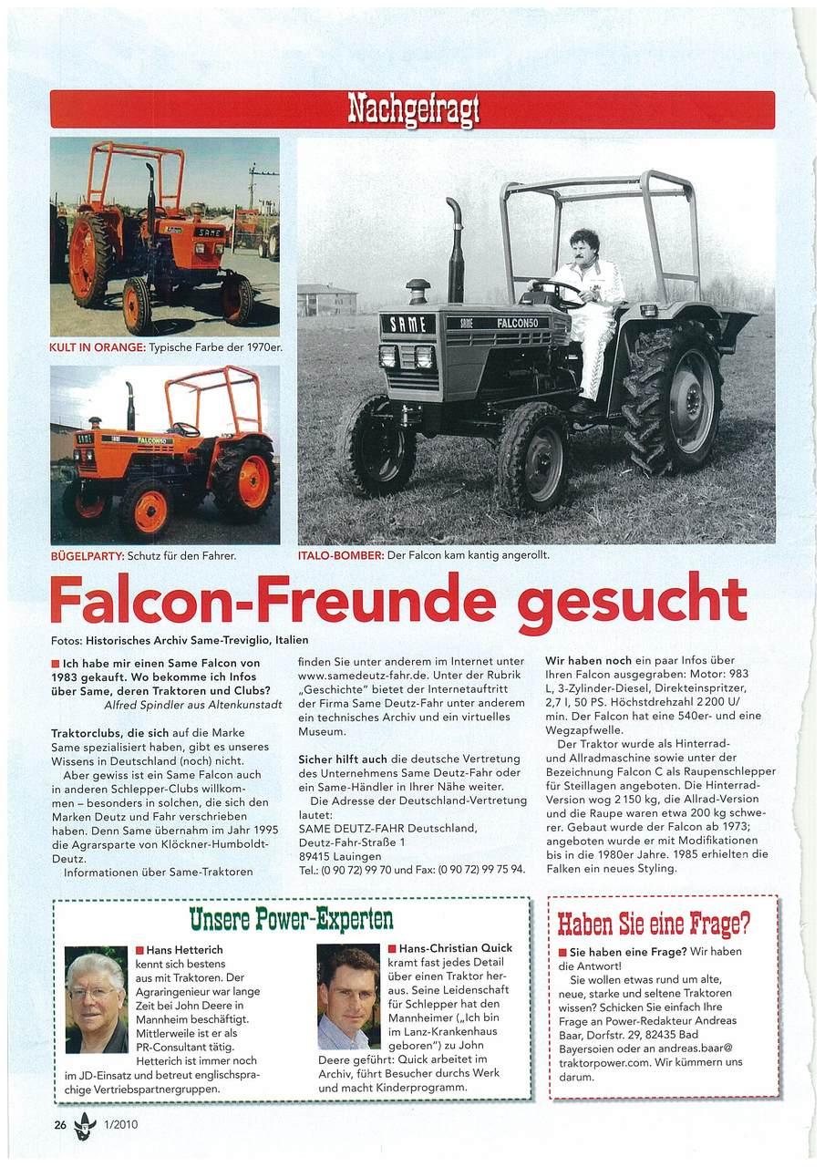 Falcon -Freunde gesucht