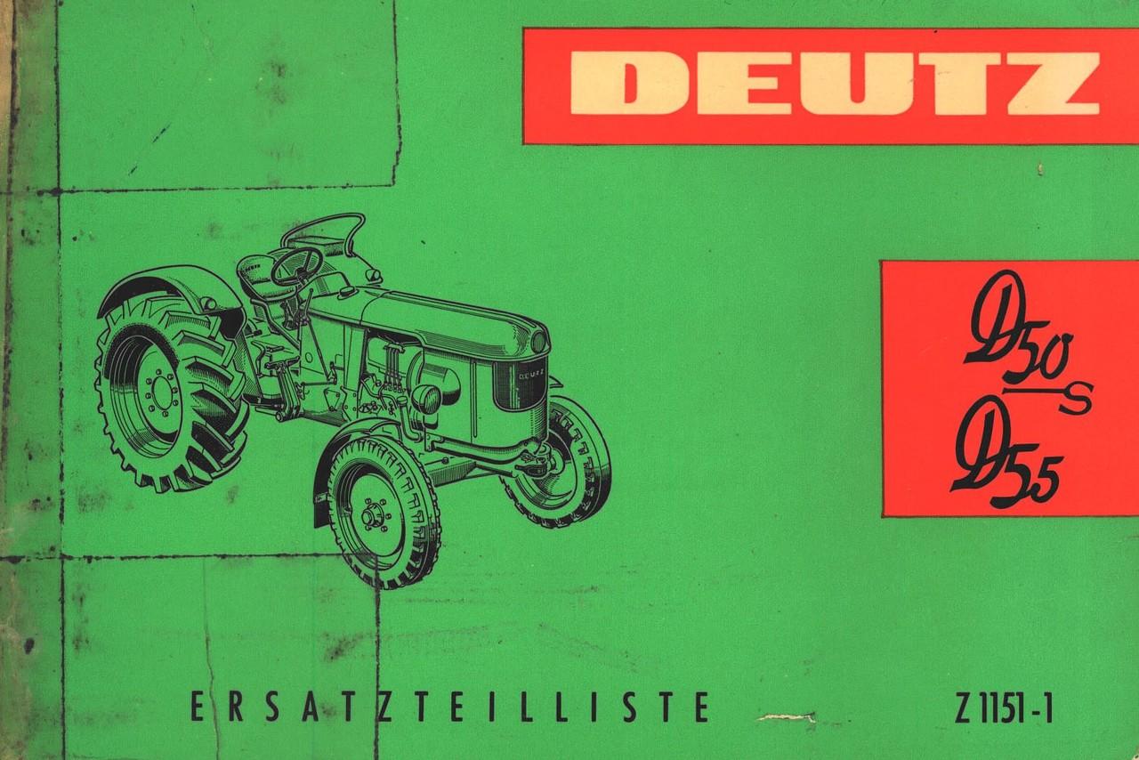 D 50 S - D 55 - Ersatzteilliste / Spare parts catalogue / Liste de pièces de rechage / Lista de repuestos