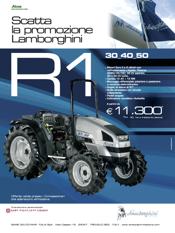 Scatta la promozione Lamborghini. R1 30-40-50