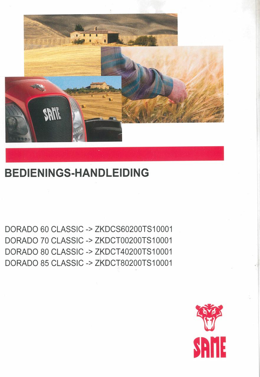 DORADO 60 CLASSIC ->ZKDCS60200TS10001 - DORADO 70 CLASSIC ->ZKDCT00200TS10001 - DORADO 80 CLASSIC ->ZKDCT40200TS10001 - DORADO 85 CLASSIC ->ZKDCT80200TS10001 - Bedienings-handleiding