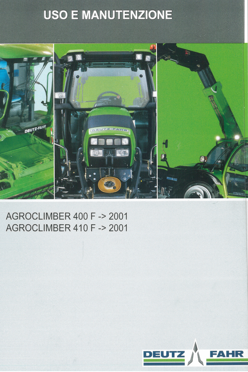 AGROCLIMBER 400 F ->2001 - AGROCLIMBER 410 F ->2001 - Uso e manutenzione