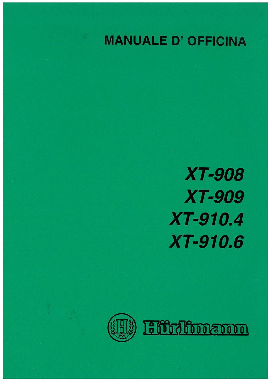 XT 908 - 909 - 910.4 - 910.6 - Manuale d'officina