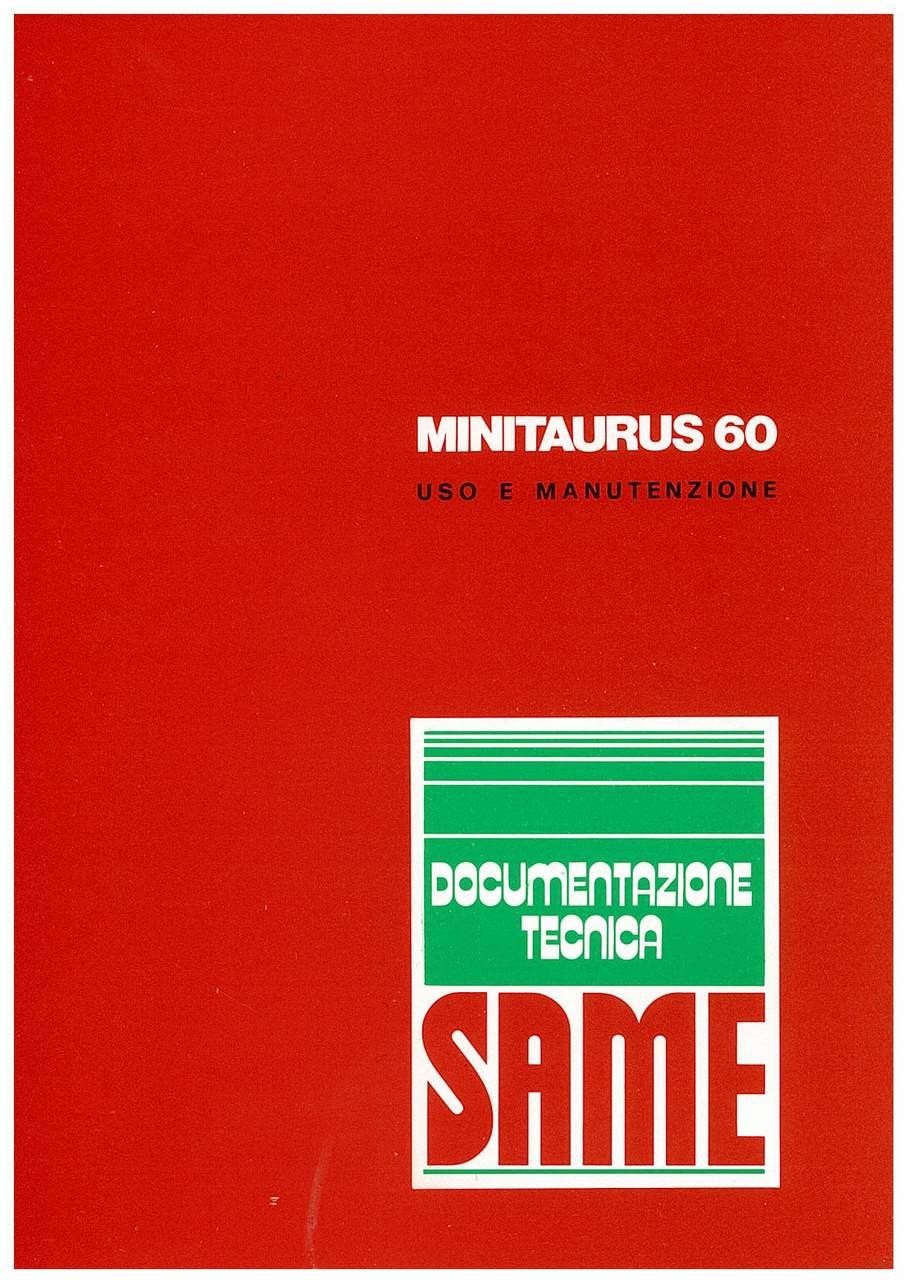 MINITAURUS 60 - Libretto uso & manutenzione