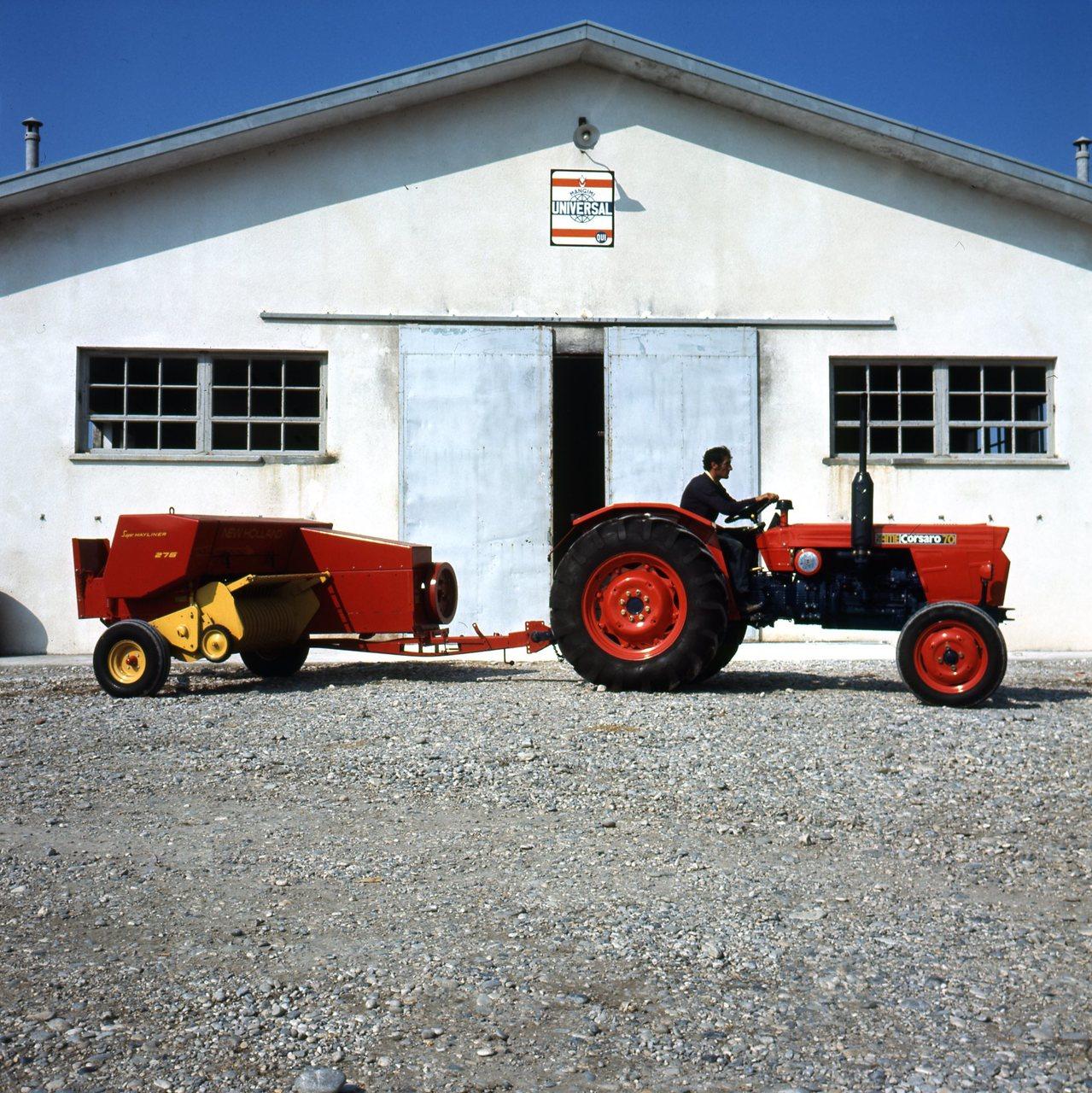 [SAME] trattore Corsaro 70 con pressa rettangolare