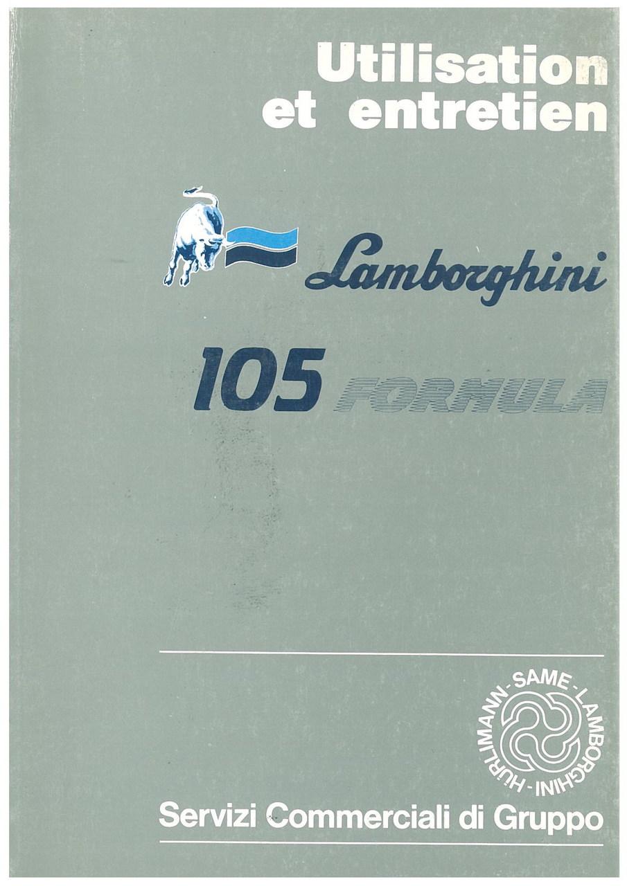 105 FORMULA - Utilisation et Entretien