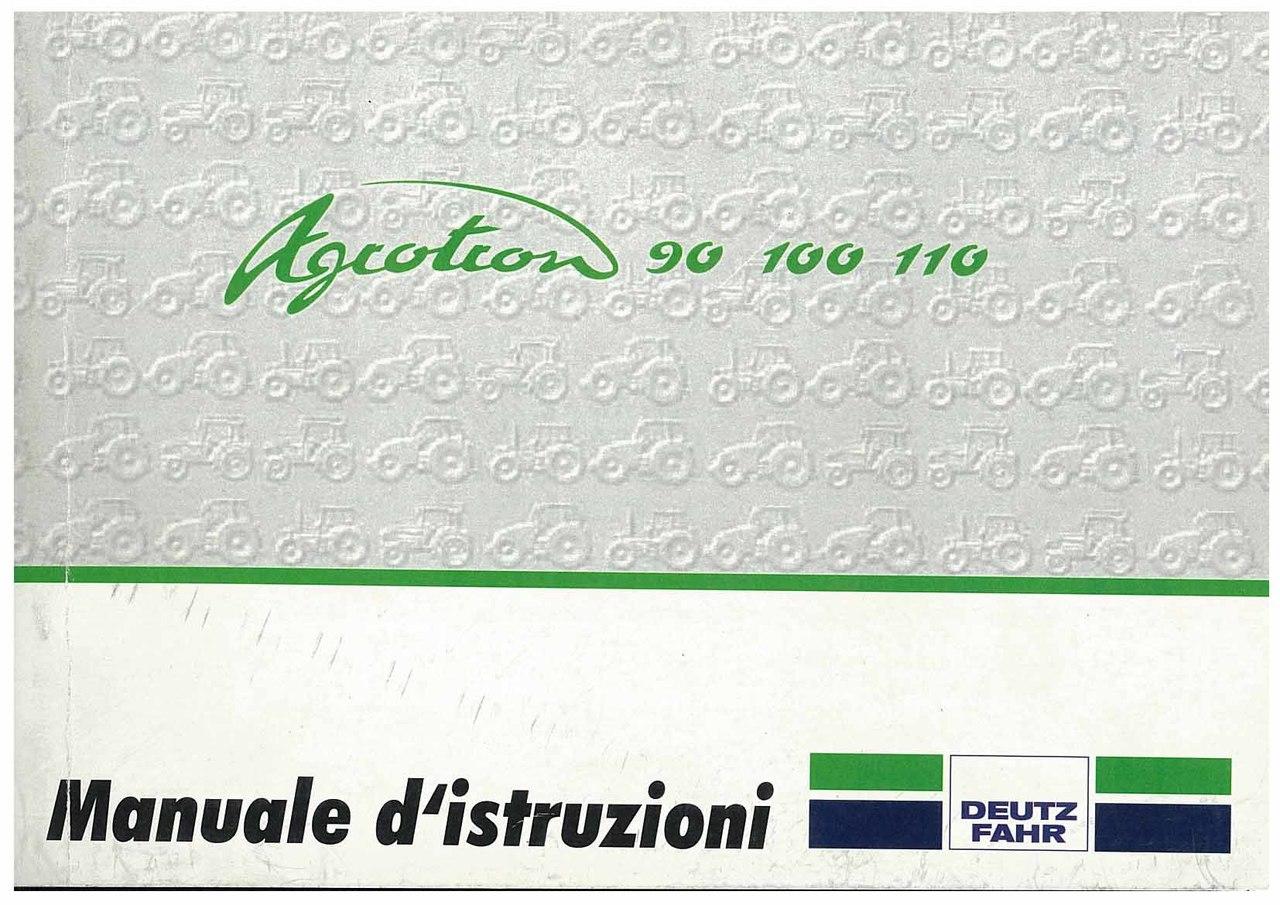 AGROTRON 90-100-110 - Libretto Uso & Manutenzione