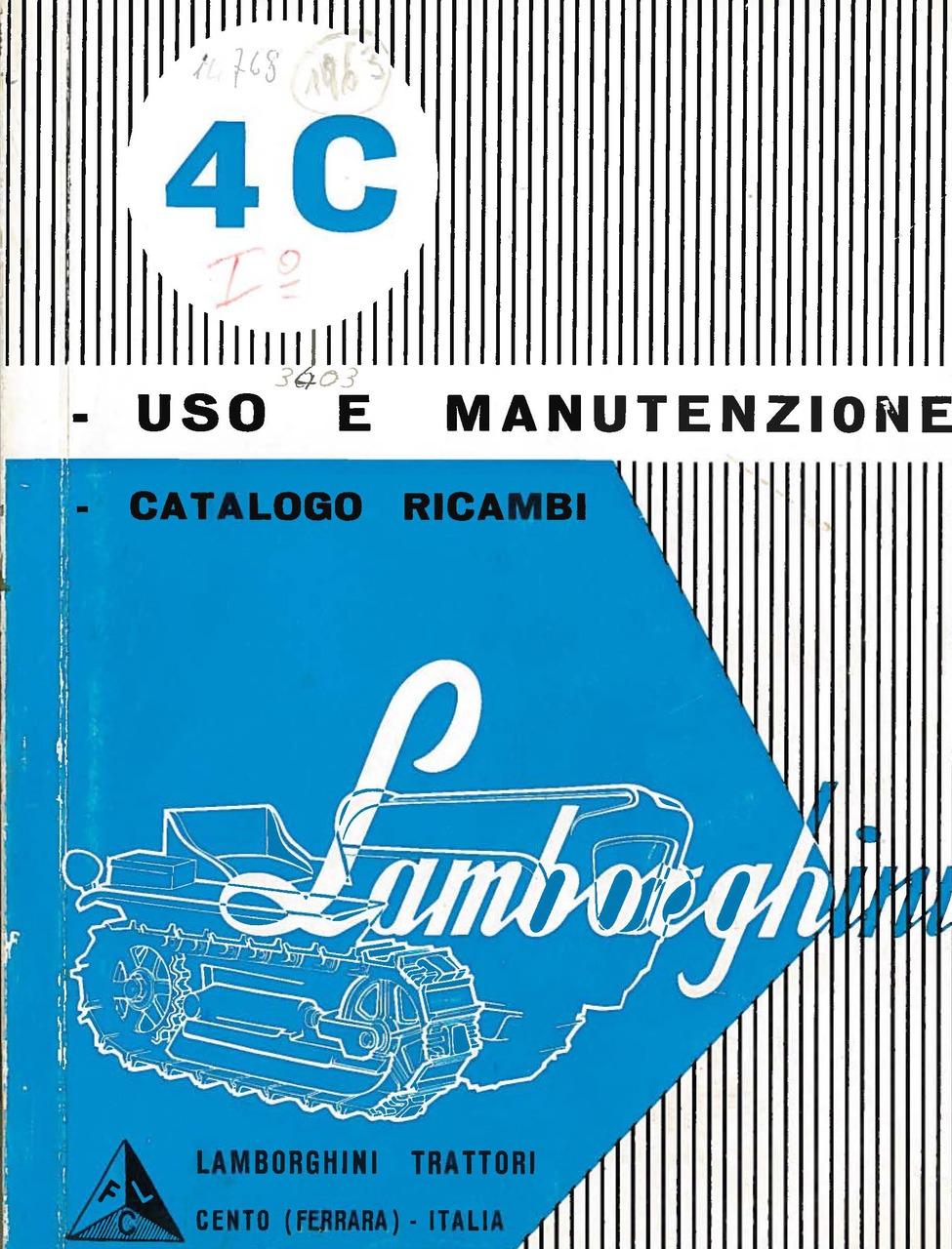 4 C - Libretto Uso e Manutenzione / Catalogo Ricambi