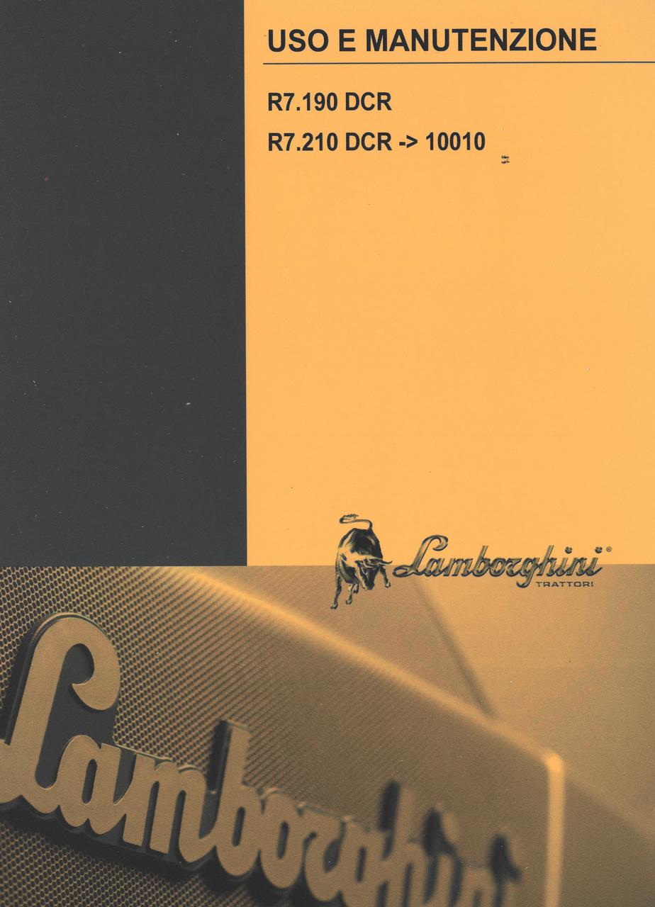R7.190 DCR - R7.210 DCR ->10010 - Uso e manutenzione