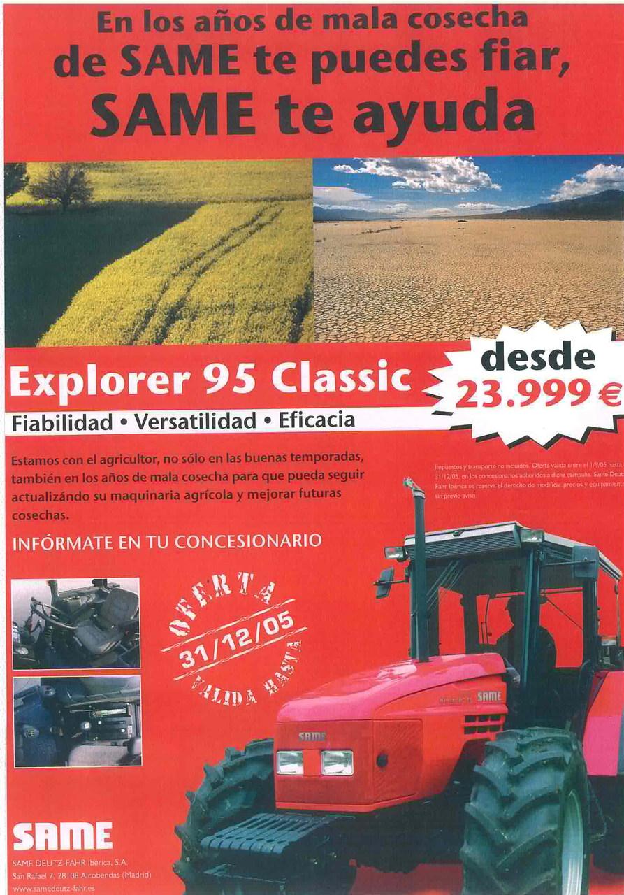 EXPLORER 95 Classic - En los anos de mala coseha de Same te puedes fiar, Same te ayuda