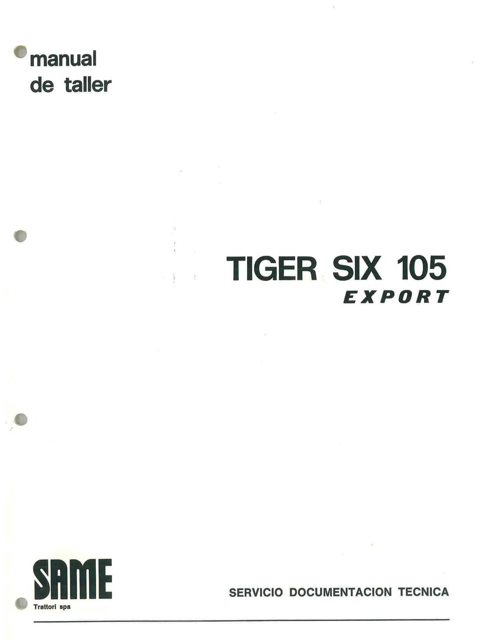 TIGER SIX 105 EXPORT - Manual de Taller