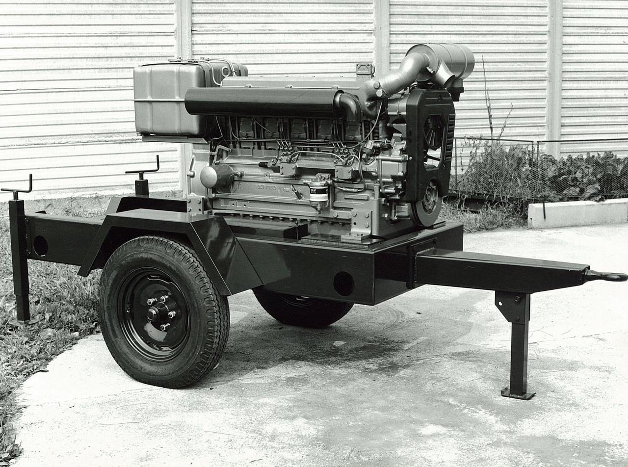 Motore SAME/ADIM serie P per uso industriale - 6 cilindri su carrello