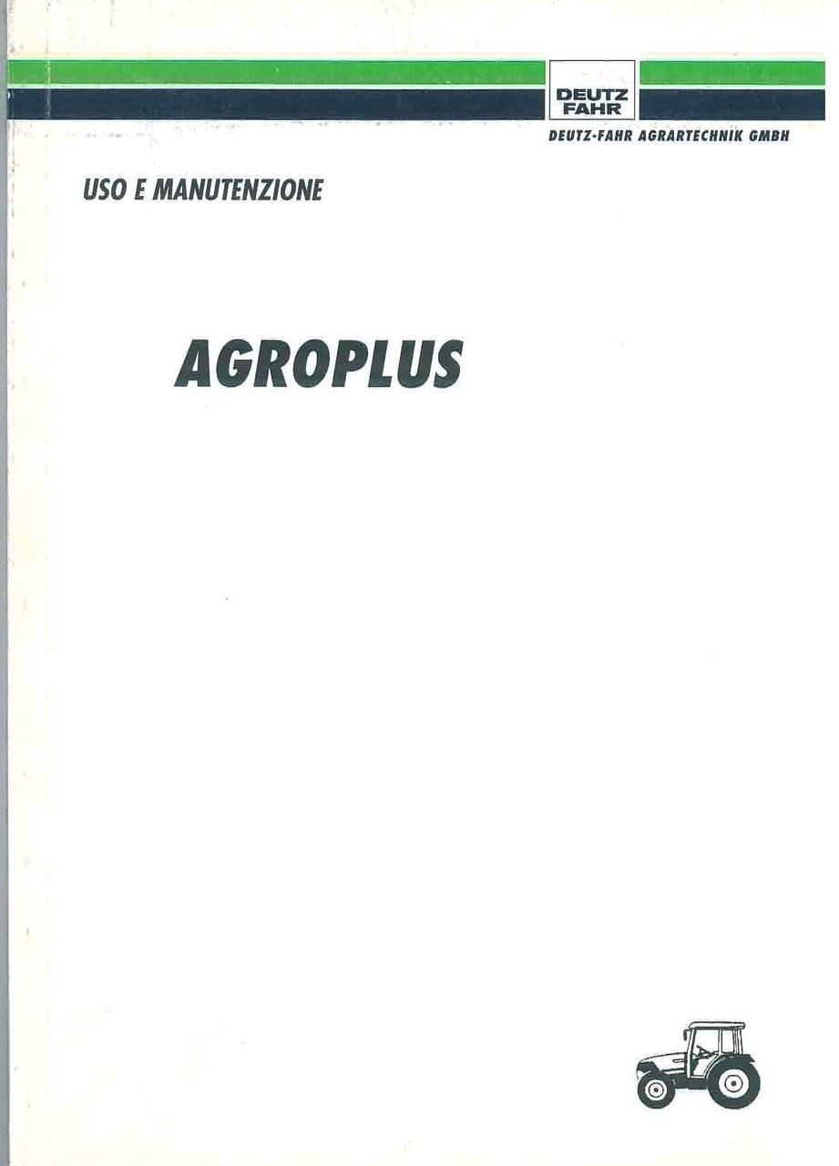 AGROPLUS - Libretto Uso & Manutenzione