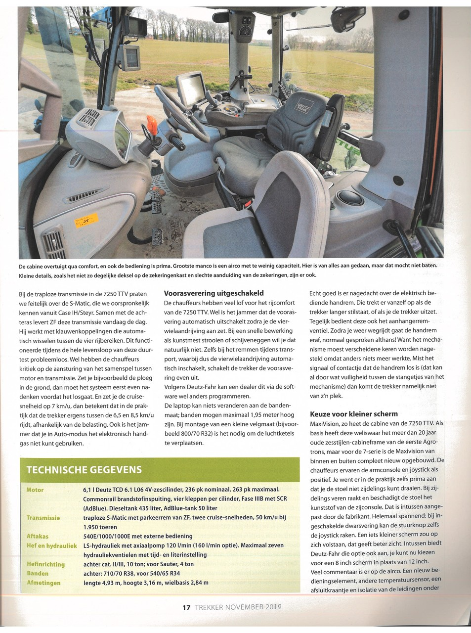 Deutz-Fahr 7250 TTV / Prima basis, mindere details