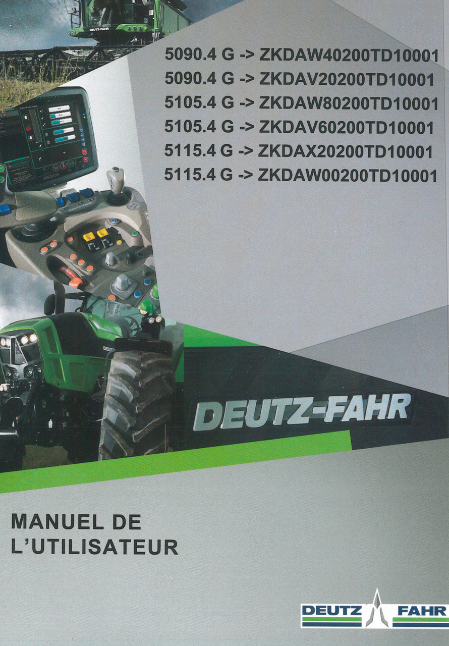 5090.4 G ->ZKDAW40200TD10001 - 5090.4 G ->ZKDAV20200TD10001 - 5105.4 G ->ZKDAW80200TD10001 - 5105.4 G ->ZKDAV60200TD10001 - 5115.4 G ->ZKDAX20200TD10001 - 5115.4 G ->ZKDAW00200TD10001 - Manuel de l'utilisateur