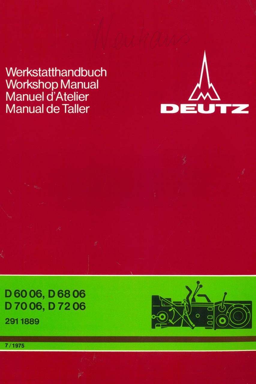 D 60 06 - D 68 06 - D 70 06 - D 72 06 - Getriebe - Power train - Transmission - Transmision - Werkstatthandbuch - Workshop manual - Manuel d'atelier - Manual de taller