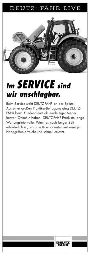 DEUTZ-FAHR LIVE, Im service sind wir unschlagbar.