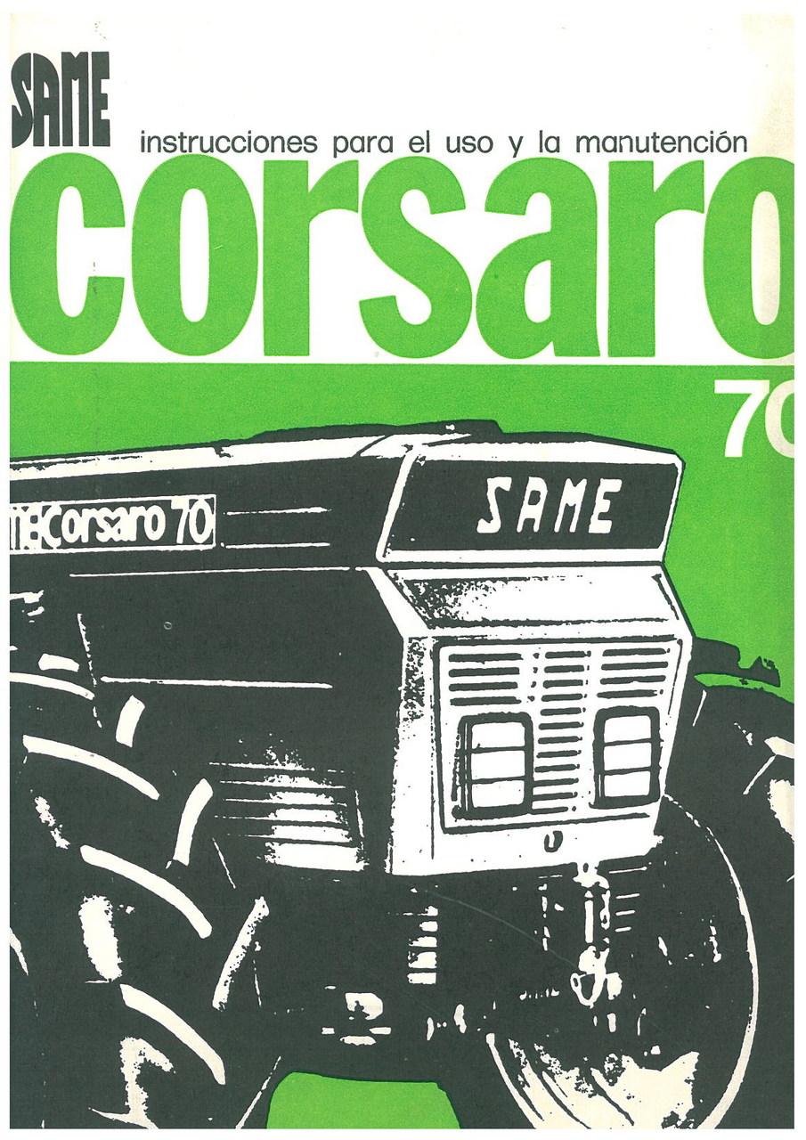 CORSARO 70 - Uso y manutencion
